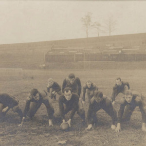 "Photograph of University of Virginia ""foot ball"" team. 1908."