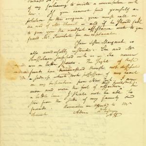 Angelica Church Archive. From Alexander Hamilton. Jan. 22, 1800, p.2