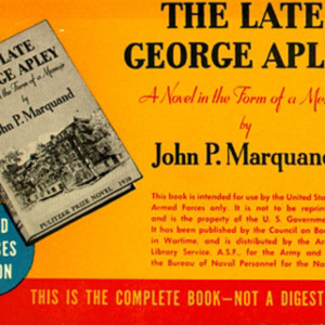 John P. Marquand, The Late George Apley&lt;br /&gt;<br />