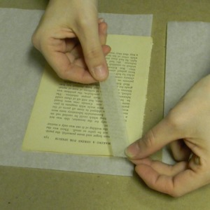 Applying Tissue and Paste to Tear