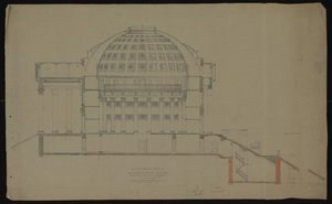 Longitudinal section of the Rotunda Restoration