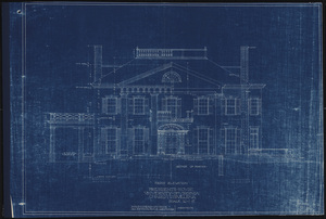 Front elevation of Carr's Hill (President's House)