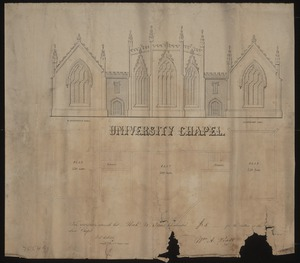 Subscription for Proposed University Chapel