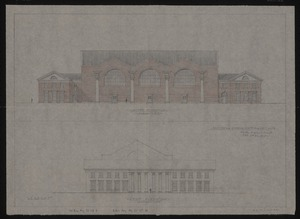 South and west elevations of Memorial Gymnasium