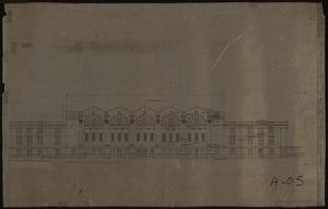 East elevation of Memorial Gymnasium