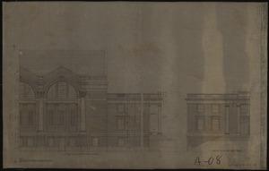 Detail of Memorial Gymnasium elevations, 1922