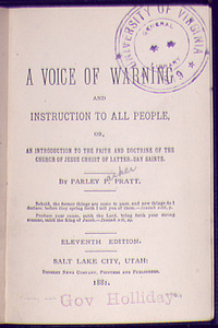 A Voice of Warning and Instruction to all People