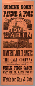 Coming Soon! Parsons & Pool's Original Uncle Tom's Cabin and Tennessee Jubilee Singers