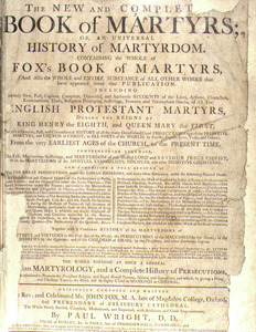 John Foxe. The Book of Martyrs. I