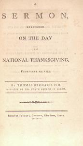 Thomas Barnard. A Sermon.