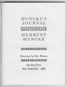 Huncke's Journal