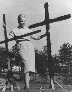 Sarah Boyle and Ku Klux Klan cross