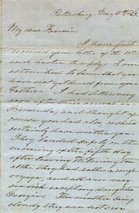 Gholson letter, 1863