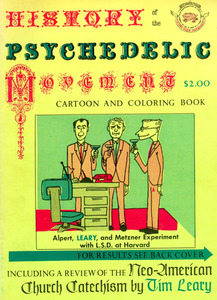 History of The Psychedelic Movement Cartoon and Coloring Book