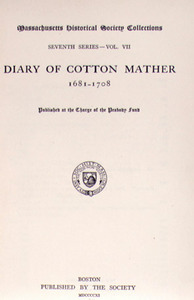 The Diary of Cotton Mather