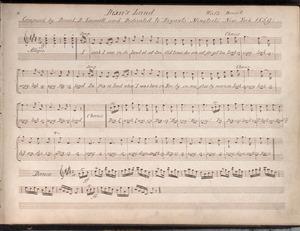 """Autograph manuscript of """"Dixie's Land."""""""