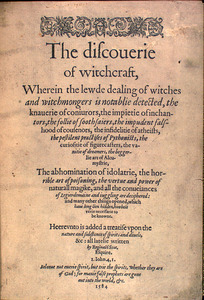 The Discouerie of Witchcraft