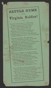 Battle hymn of the Virginia soldier! [Virginia?, ca. 1862]
