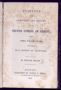 Evidence from Scripture and History of the second coming of Christ about the year 1843