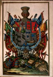 Heraldic coat of arms of Bernardo de Galvez