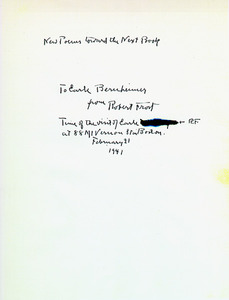 "The manuscript title ""New Poems Toward the Next Book"""