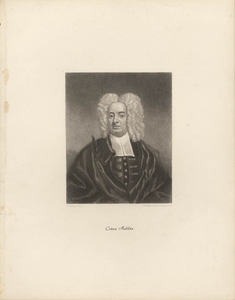 Portrait of Cotton Mather by E. Pelham
