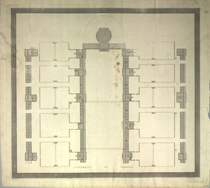 University of Virginia (Ground Plan), 1822