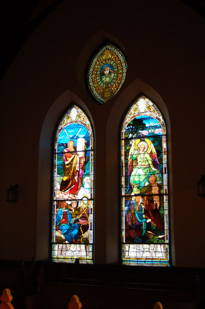 Stained glass in the University Chapel