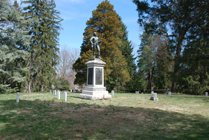 Photograph of the Confederate Monument in the University Cemetery