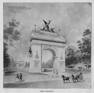 Illustration of the proposed Memorial Arch to the Confederacy