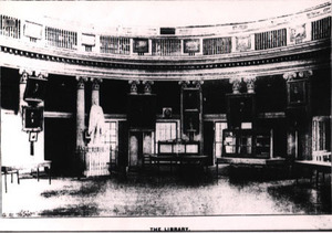 The University Library in the Rotunda dome room prior to the fire