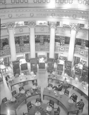 The University Library in the reconstructed Rotunda