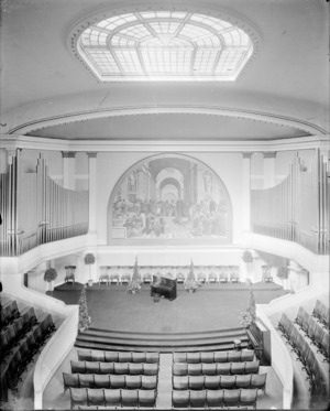Photograph of Cabell Hall auditorium