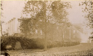 The Rotunda and Annex immediately after the fire