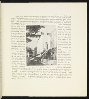 Article with photograph of the ruins of the Rotunda portico