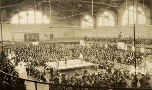A boxing match at Memorial Gymnasium, n.d.