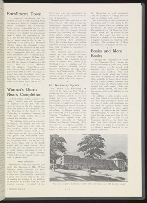 Munford Hall article in Alumni News, 1951