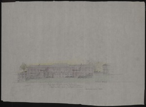 Sketch of Newcomb Hall, pre-1950