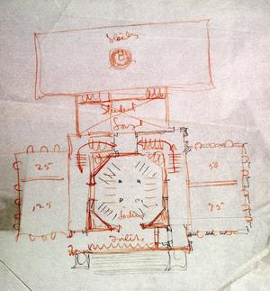 Sketch of Clark Hall