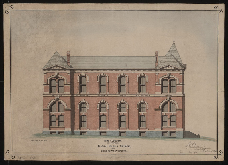 Side elevation of Brooks Museum
