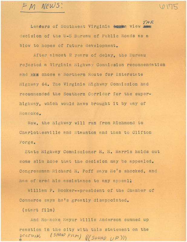 Roanoke Mayor Script