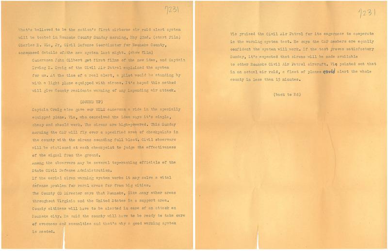 Air Patrol Script