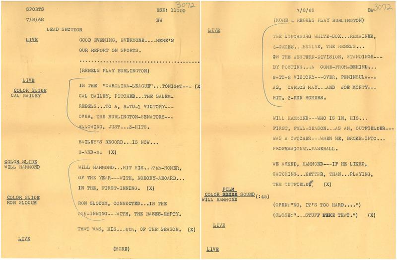 Rebels Baseball Script