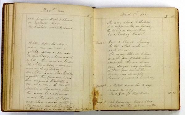 Sigismunda Stribling Kimball, Diary, 1860-1863.