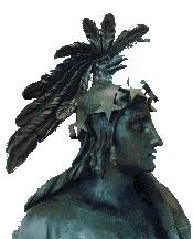 Statue Freedom. Head. Profile