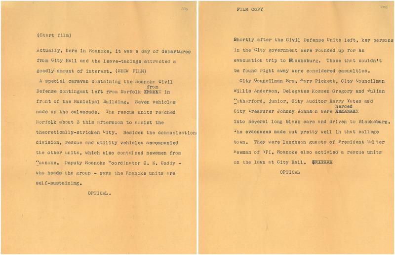 Civil Defense Drill Script
