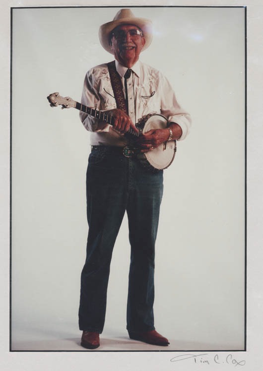 Photograph of Joseph C. Smiddy, Clinch Valley chancellor and leader of the Reedy Creek Boys bluegrass quartet. No date. (Courtesy of University of Virginia's College at Wise.)