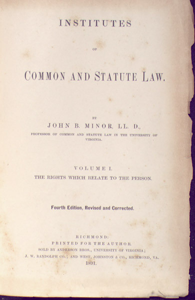 Institutes of Common and Statute Law