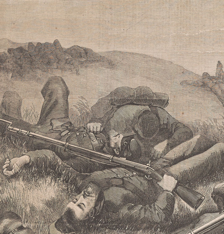 """Detail, """"The True Defenders of the Constitution,"""" from Harper's Weekly. New York: Harper & Brothers, 11 November 1865."""