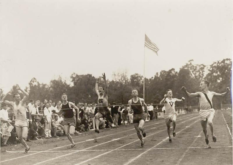 Photograph of Henry H. Cummings, Jr. 1927. Cummings in on far right.